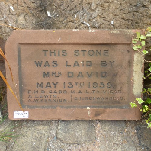 FOUNDATION STONE DATED 13TH MAY 1939