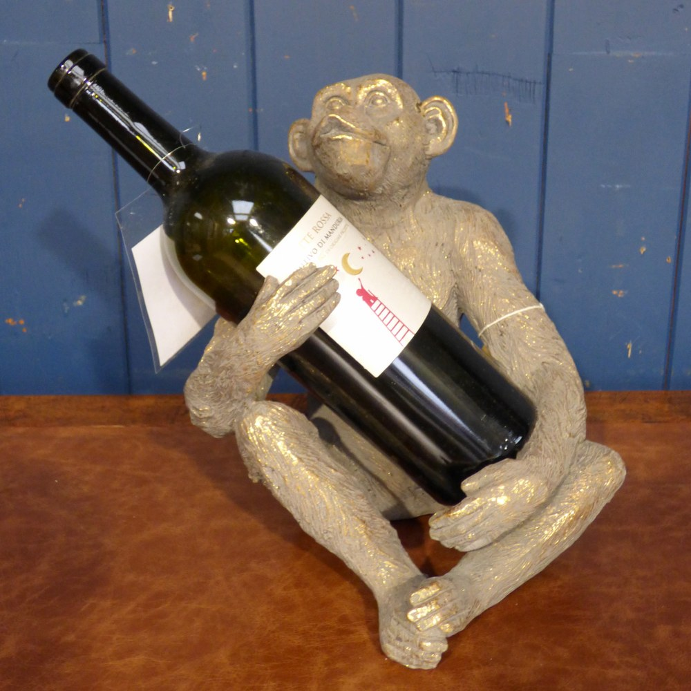 GOLD MONKEY BOTTLE HOLDER CH