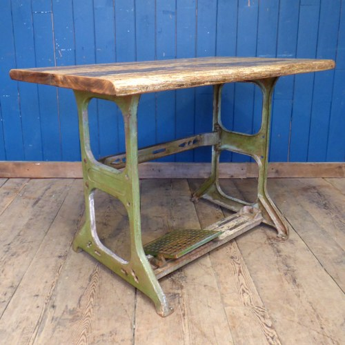 INDUSTRIAL STYLE CONSOLE TABLE CRAFTED FROM RECLAIMED CAST METAL MARDRIVE REG BASE RW