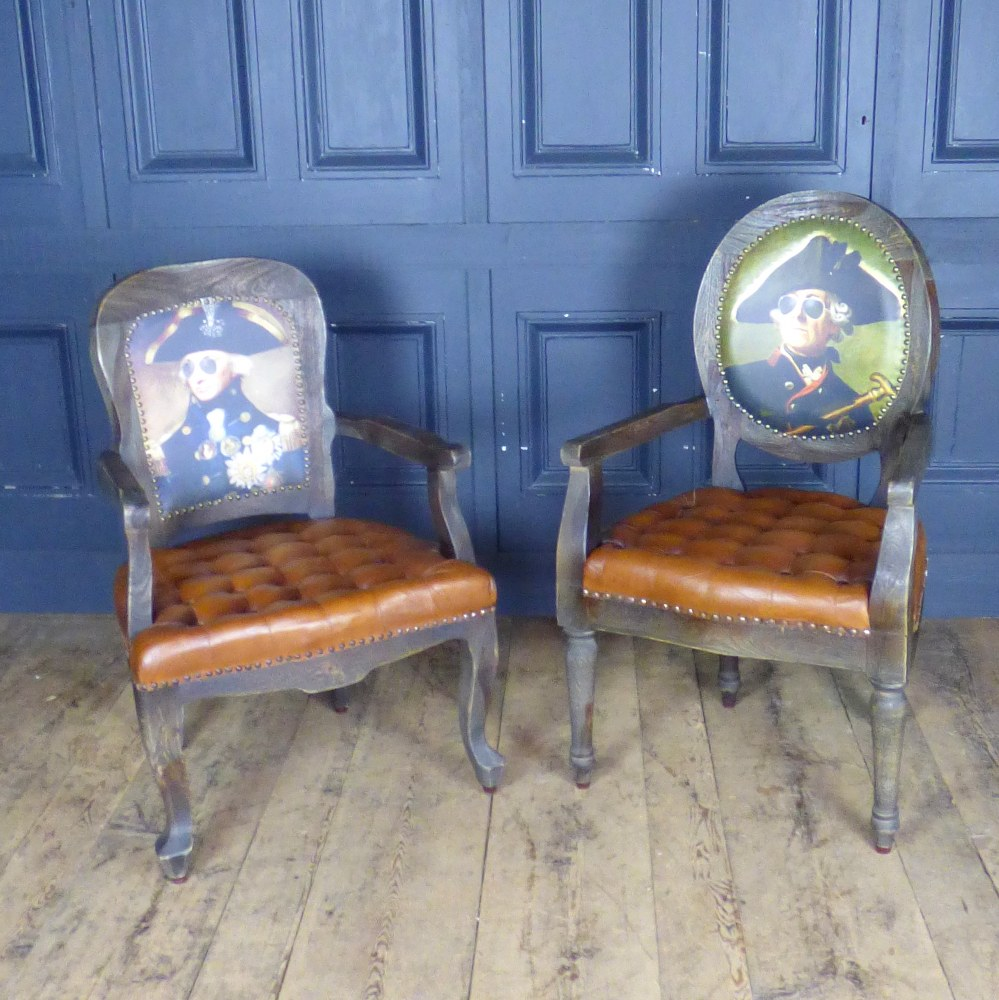 FUNKY PRINTED PORTRAIT CHAIRS RWI5128