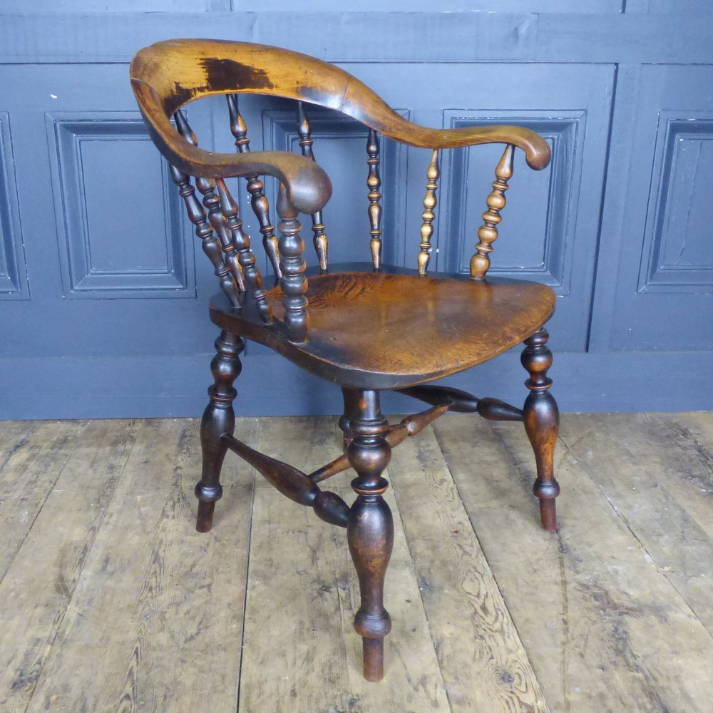 ANTIQUE SMOKERS BOW  DESK CHAIR RWI5042