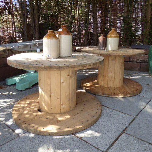 CABLE REEL GARDEN TABLES