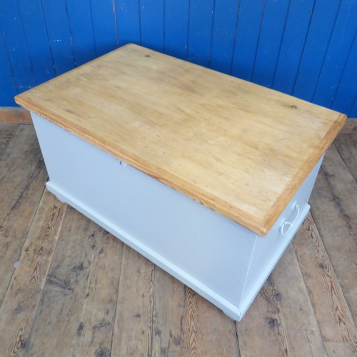 LARGE PAINTED TOY CHEST / BLANKET BOX RWI4600