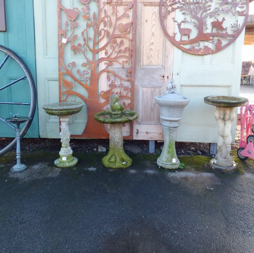 BIRD BATHS - VARIOUS STYLES AVAILABLE