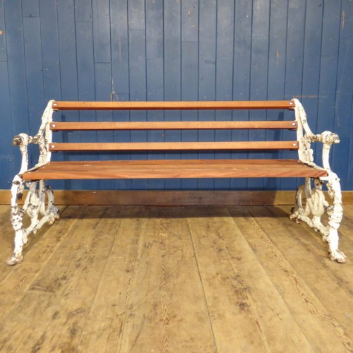 BEAUTIFUL ANTIQUE CAST IRON SERPANT AND GRAPE BENCH IN THE STYLE OF COALBROOKDALE RWI4799