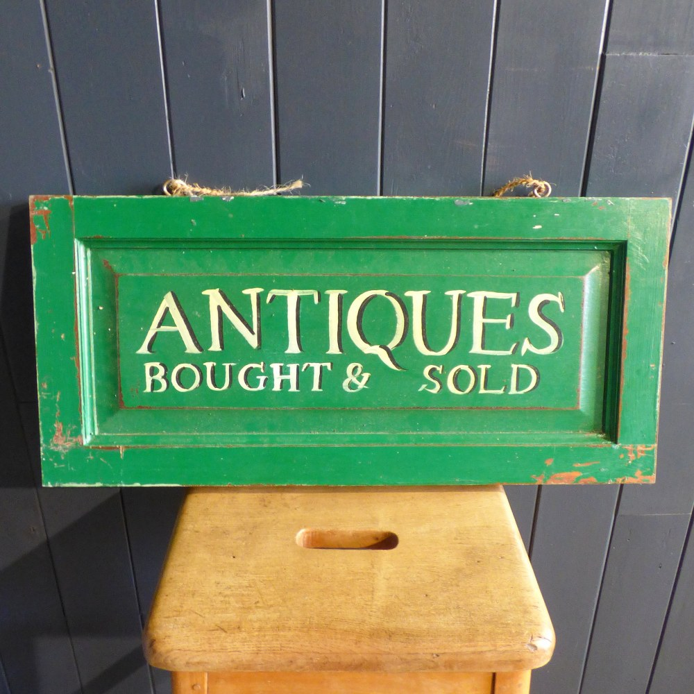 HAND PAINTED ANTIQUES BOUGHT AND SOLD SIGN RWI4887