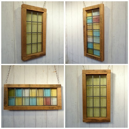 RECLAIMED STAINED GLASS PANELS RWI3901 RWI3902