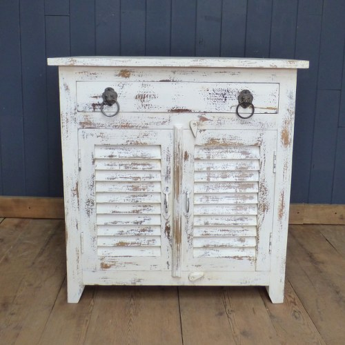 INDIAN SHABBY CHIC CABINET WITH SHUTTERED DOORS & Indian Shabby Chic Cabinet With Shuttered Doors | Home Furniture ...