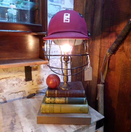 Quirky cricket sport themed table lamp lights reclaimed world quirky cricket sport themed table lamp mozeypictures Choice Image