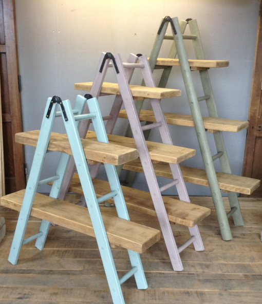 rustic shelf ladder rustic a frame ladder shelves home reclaimed world 11834