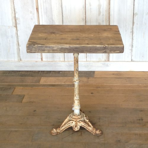 WHITE VICTORIAN CAST BASE WITH RECLAIMED TOP